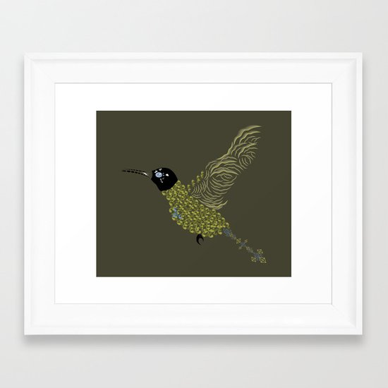 Abstract Hummingbird Framed Art Print