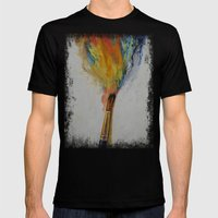 Paint Mens Fitted Tee Black SMALL