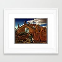 Framed Art Prints featuring Deconstruction I  by David Kesslers digital  art
