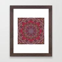Farah Red Framed Art Print
