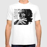 Charles Bukowski - Black… Mens Fitted Tee White SMALL