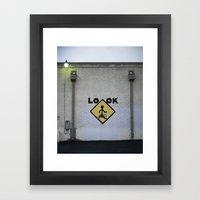 Look! Framed Art Print