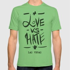 Love VS Hate - Las Vegas - Mens Fitted Tee Grass SMALL