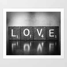 Love is a Beautiful Word - a fine art photograph Art Print