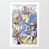 Art Print featuring Nightman Cometh by LocalMadMAn