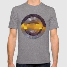 CIRCULAR LANDSCAPE Mens Fitted Tee Tri-Grey SMALL