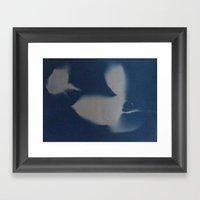Ghost Rose Framed Art Print