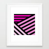 STRIPED {PINK} Framed Art Print