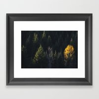Fall at Trillium Lake, OR Framed Art Print