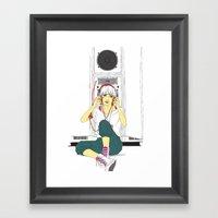 Stereo-girl Framed Art Print