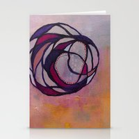 Pink Spiral Stationery Cards