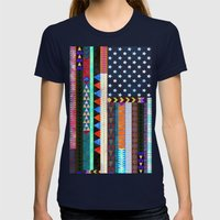 Boho America Womens Fitted Tee Navy SMALL