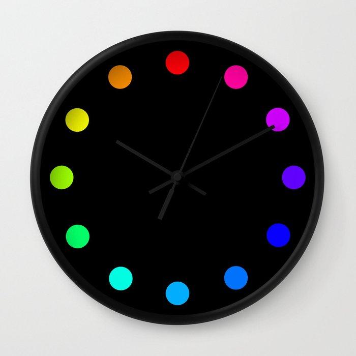 clock dots color option black wall clock by steffi louis