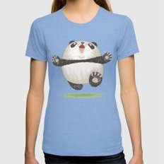 Panda Womens Fitted Tee Tri-Blue SMALL