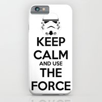 iPhone & iPod Case featuring Keep Calm and use the Force by Teacuppiranha