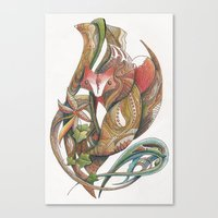 Essence of the fox Canvas Print
