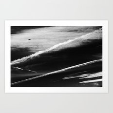 Ufo And Chemical Trails Art Print