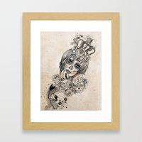 Sugar Skull Queen Framed Art Print