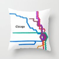 Chicago Subway Throw Pillow