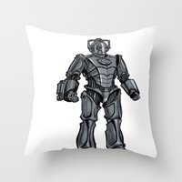 Cyberman... Throw Pillow
