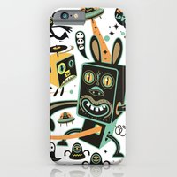 iPhone & iPod Case featuring Little Black Magic Rabbit by Exit Man