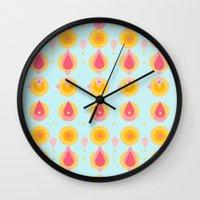 Pineapple & Ice Cream Wall Clock