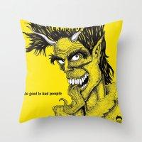 Crampus Throw Pillow