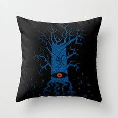 All-seeing tree 2 night Throw Pillow