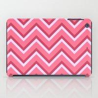 Pink Zig Zag Pattern iPad Case