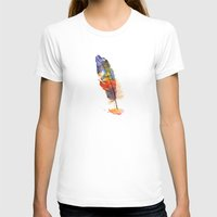 feather T-shirts featuring feather by emegi