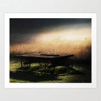 Sunrise on the Wagon Art Print