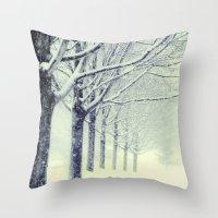 Winter's Walk Throw Pillow