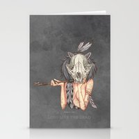 Long live the dead - Raccoon Stationery Cards