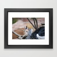 Spiked Hair Framed Art Print