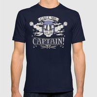 Call me Captain! Mens Fitted Tee Navy SMALL