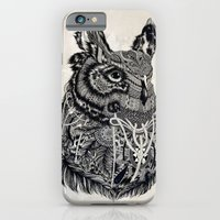 owl iPhone & iPod Cases featuring Owl by Feline Zegers