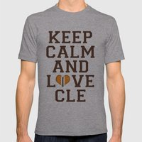 LOVE CLE BROWNS II Mens Fitted Tee Athletic Grey SMALL