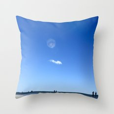 Blue Memory Throw Pillow