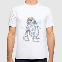 R2 and His Baby Sloth Mens Fitted Tee Ash Grey SMALL