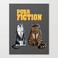 Purr Fiction Canvas Print