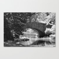 Central Park Stone Bridge  Canvas Print