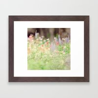SUMMER HIKE  Framed Art Print