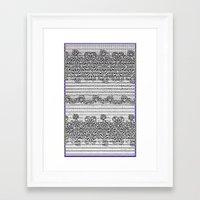 Newspaper Stripe Framed Art Print