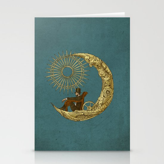 Moon Travel Stationery Card