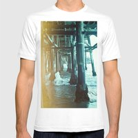 Under The Pier.  Mens Fitted Tee White SMALL