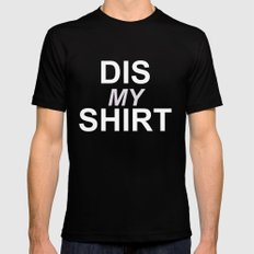 Dis My Clothing Line SMALL Mens Fitted Tee Black