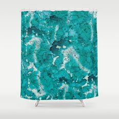 Blue depths Shower Curtain
