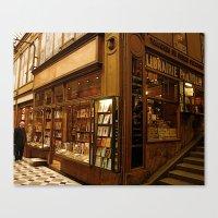 Paris Bookstore Canvas Print