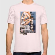 The North American Woman Mens Fitted Tee Light Pink SMALL