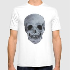 Skull Mens Fitted Tee White SMALL